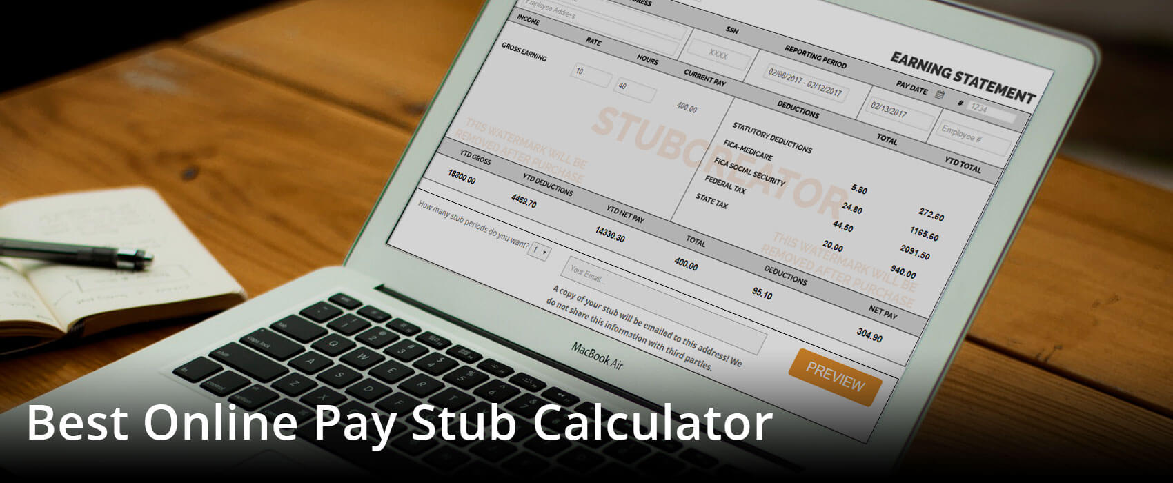 free check stub calculator