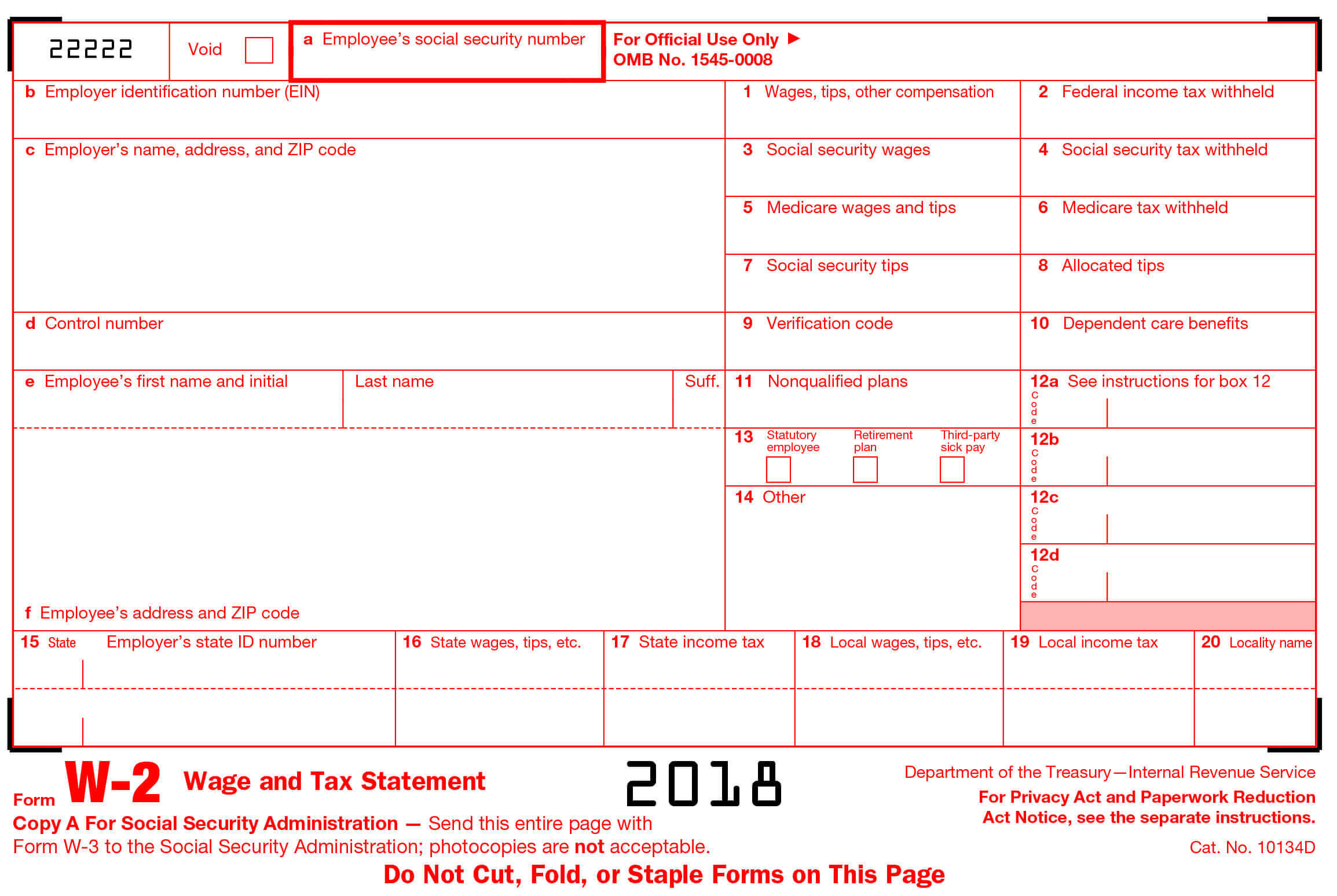W2 form 2017 printable for W2 template 2013