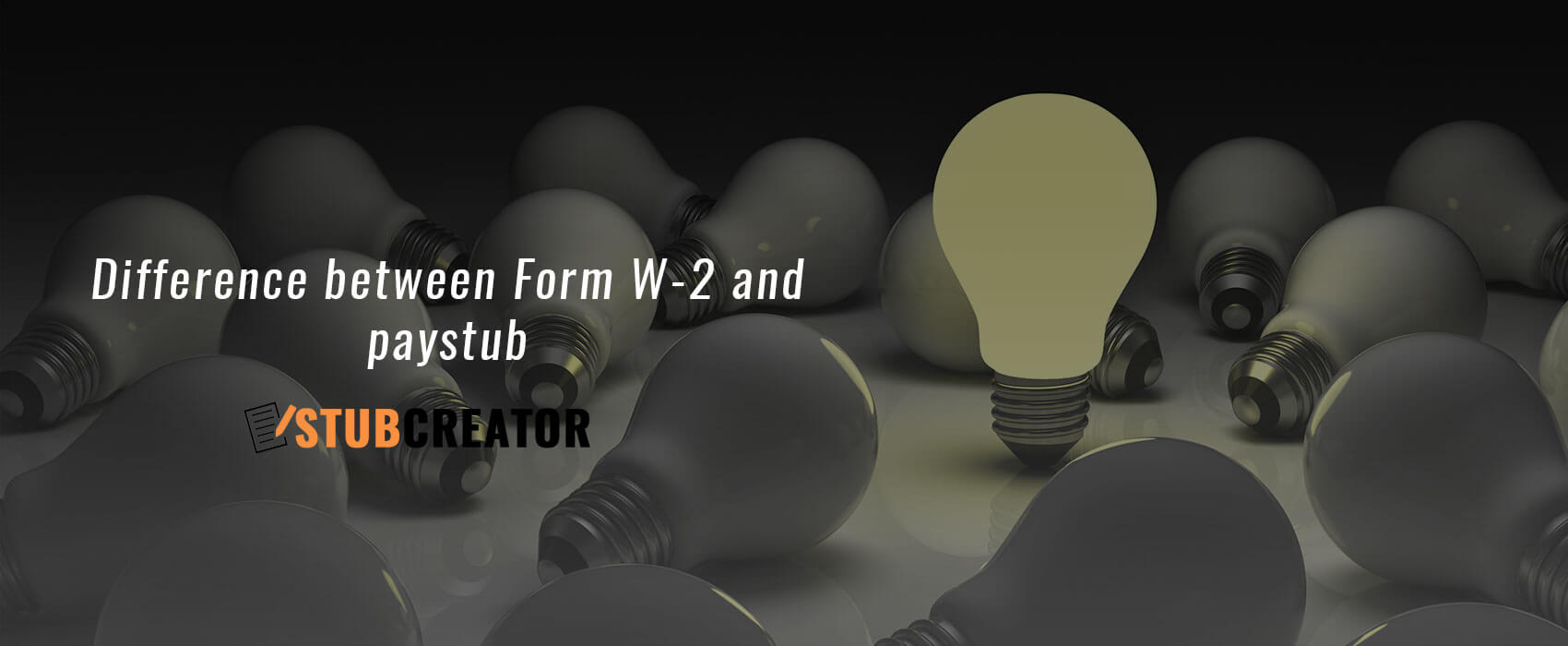Pay Stub & W2 Forms - What is the Difference? - Stub Creator