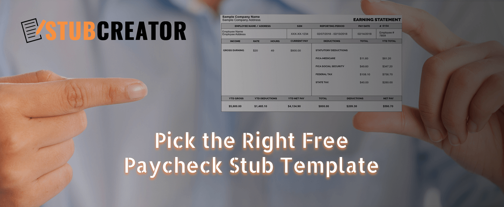 there is no shortage of free paycheck stub templates online you can easily find download and use layouts which can be directly used to create a pay stub - Free Paycheck Stub Template