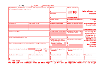 1099 Misc Form And Other Tax Forms Online Only At Stubcreator